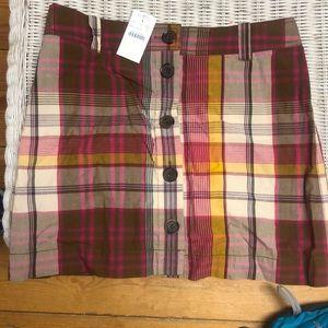 Jcrew Plaid Skirt NWT